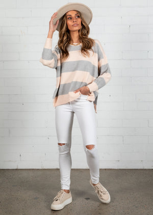 Wrangler Sweater - Blush Stripe