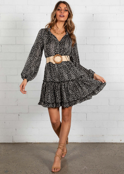 Zarah Swing Dress - Black Spot