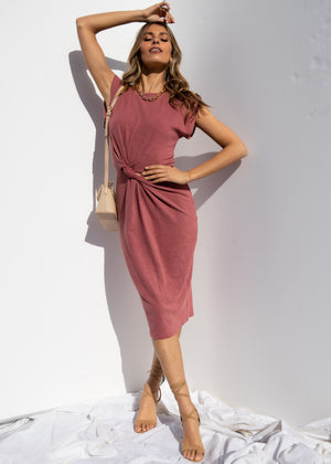 Magic Hour Midi Dress - Rose