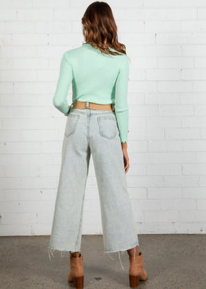 Hayley Knit Top - Mint