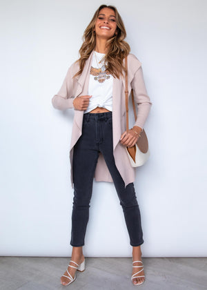 Raphy Knit Cardigan - Blush