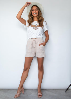 Veda Knit Shorts - Beige