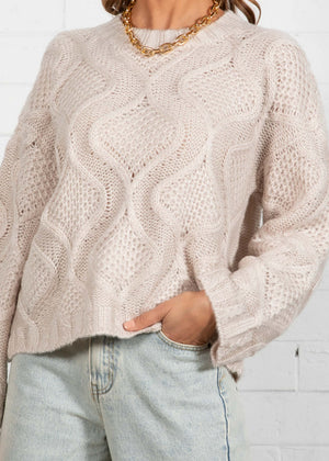 Indulge Me Sweater - Oatmeal