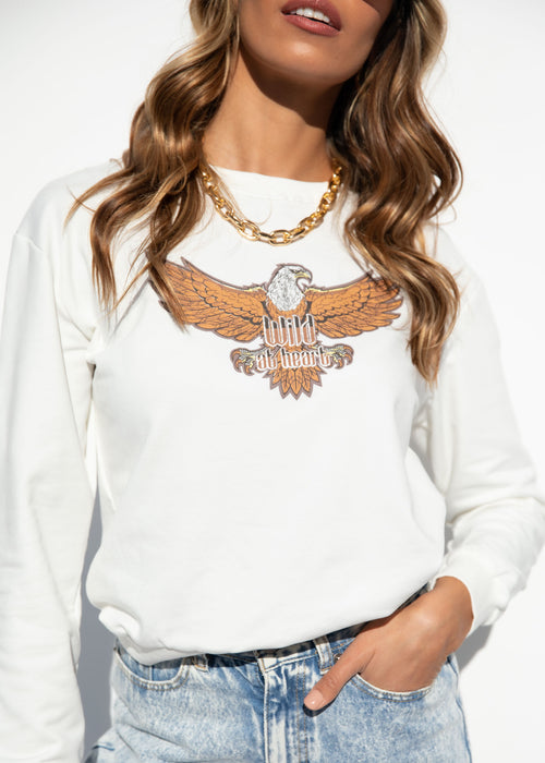 Wild Eagel Sweater - White