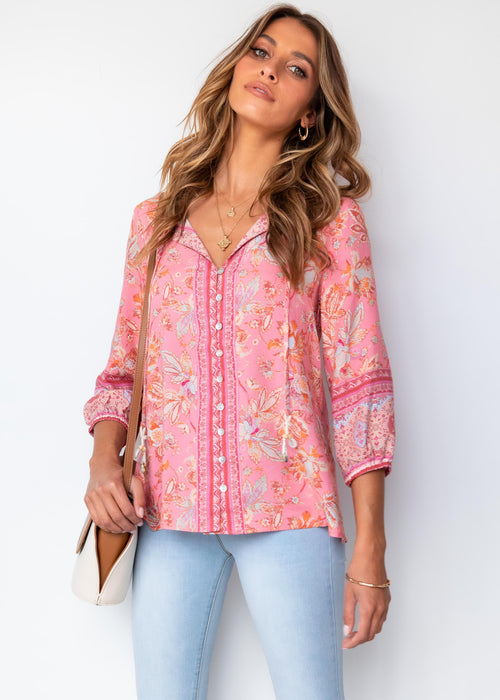 Kalin Blouse - Candy Paisley