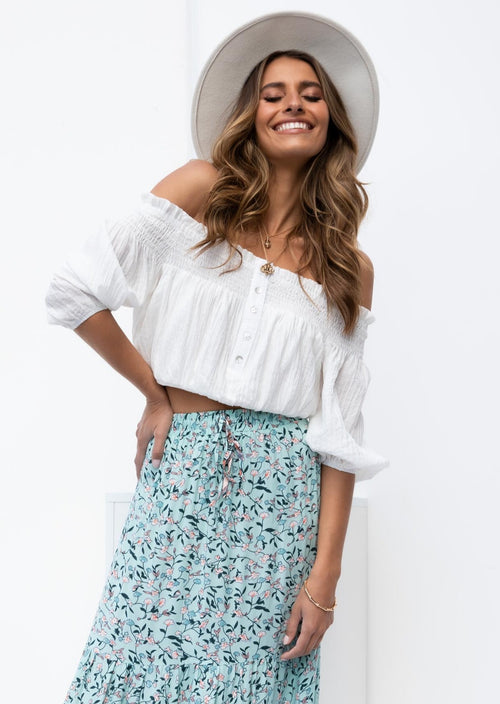 Kasie Off Shoulder Top - Off White