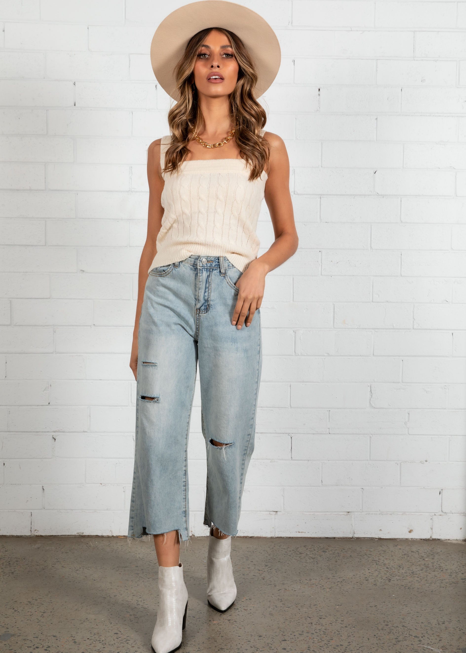 Corben Cropped Jeans - Light Blue