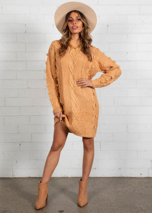 Lucky Penny Knit Dress - Mustard