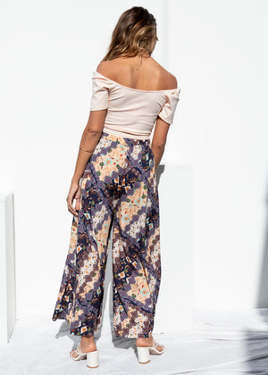 Indi Wide Leg Pants - Ink Paisley