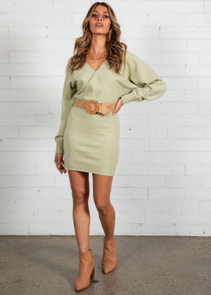 Lounge Life Knit Dress - Mint