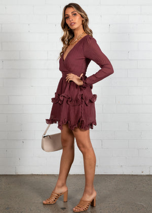 Stay The Night Dress - Mulberry