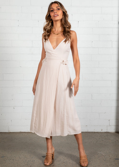 Sunset Boulevard Midi Dress - Nude