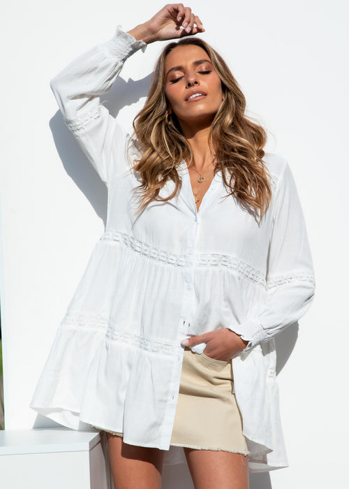Tiano Tunic Shirt - Off White