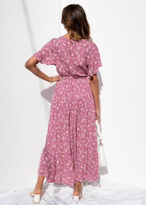 Cobie Tier Maxi Dress - Dusty Rose
