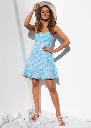 Sweet Soul Dress - Blue Floral
