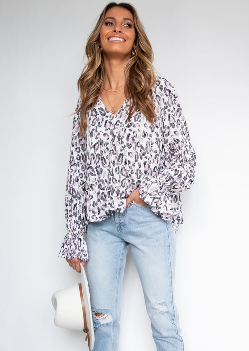Teeghan Blouse - Pink Panther