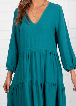 Haisley Midi Dress - Teal