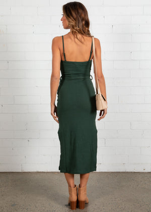 Walking By Midi Dress - Emerald