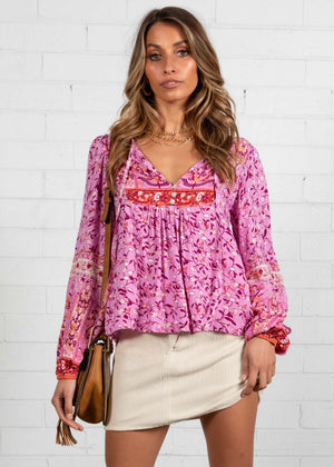 Free Roaming Blouse - Lilac Floral