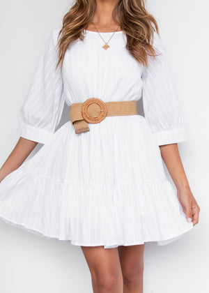 Until Morning Dress - White