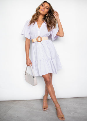 Rosemary Shirt Dress - Lilac