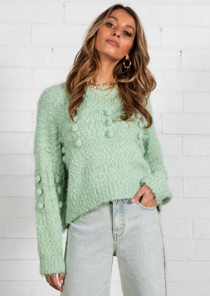 Lonely Heart Sweater - Mint