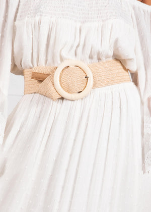 Know My Way Belt - Cream