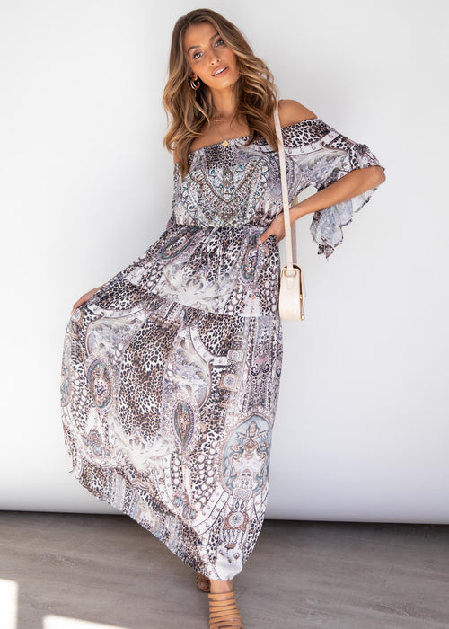 Ever Changing Off Shoulder Maxi Dress - Bengal