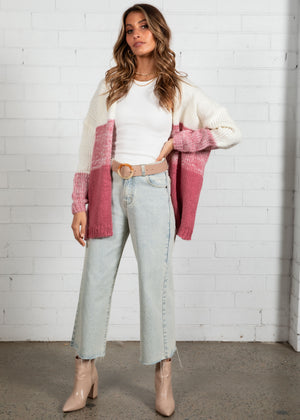 Retreat Stripe Cardi - Blush
