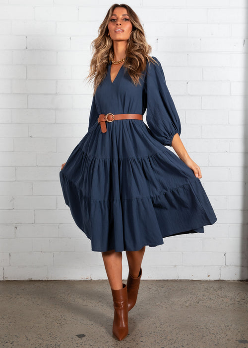 Napa Midi Dress - Navy