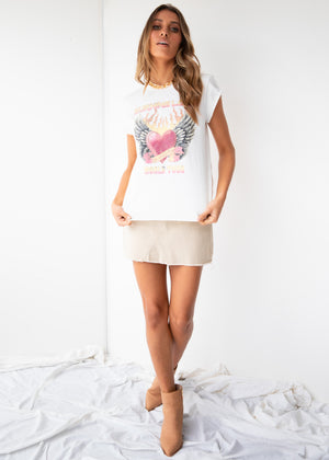 Burning Love Tee - White