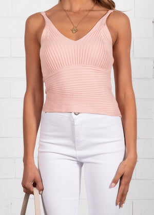 Quora Knit Cami - Blush