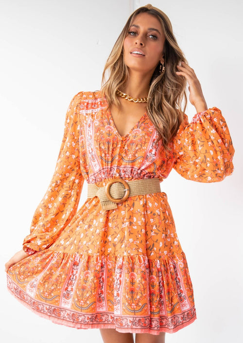 My Embrace Dress - Orange Sunrise