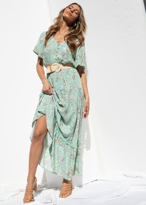 Promise Maxi Dress - Sage Paisley