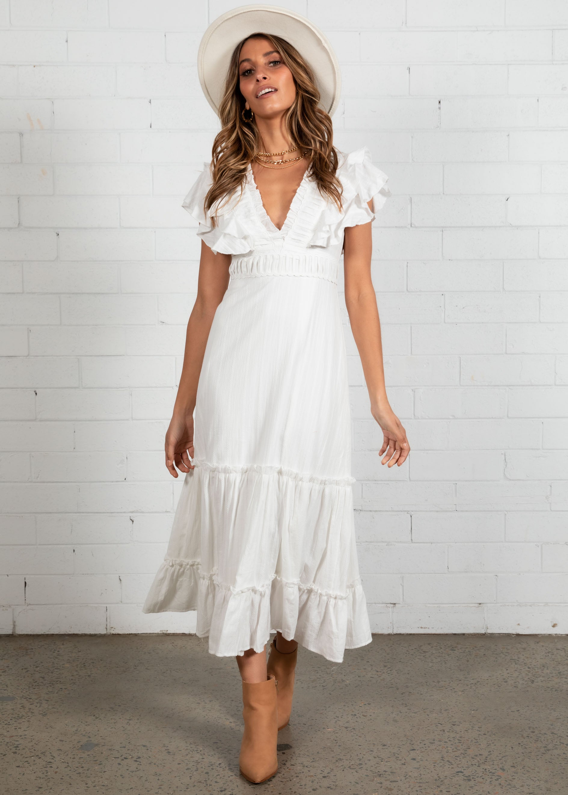 Dance For Me Midi Dress - White