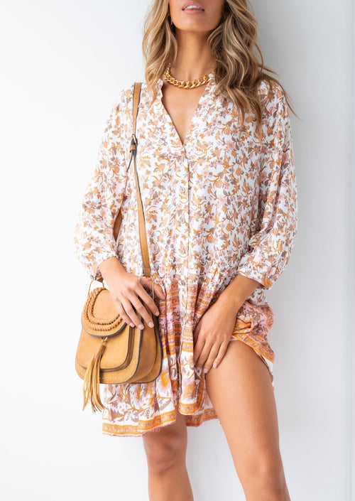 Beckham Smock Dress - Vintage Paisley