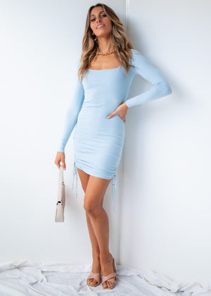 Mad For You Knit Dress - Blue