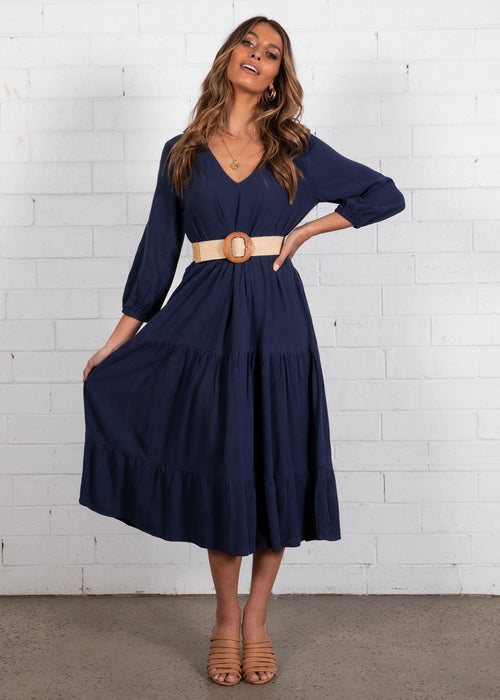 Haisley Midi Dress - Navy
