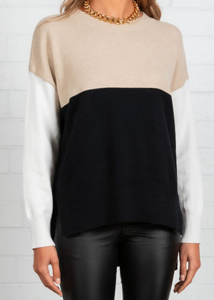 Harlem Block Sweater - Black