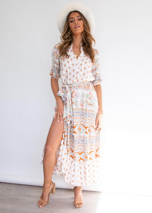Murano Maxi Dress - Peaches