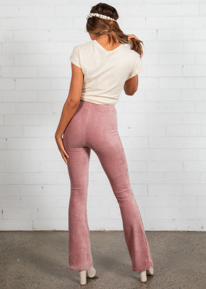 Brady Stretch Cord Flares - Blush