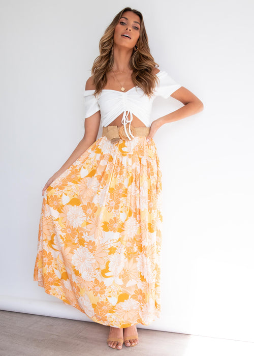 Cocoa Maxi Skirt - Sunshine