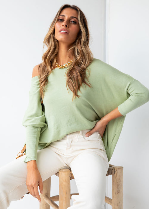 Bellflower Lightweight Sweater - Mint