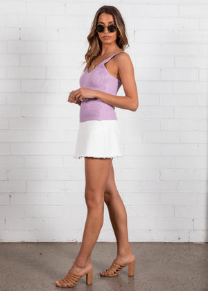 Quora Knit Cami - Lilac