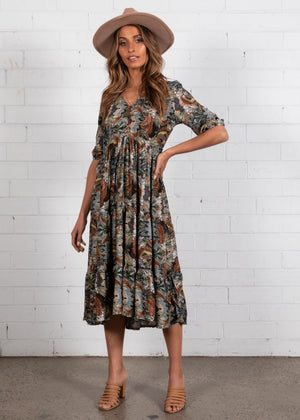 Eve Midi Dress - Valencia