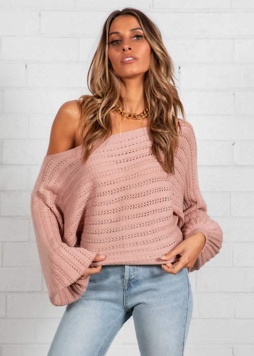 Live Your Life Sweater - Blush