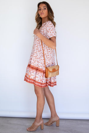 Babydoll Dress - Autumn Paisley