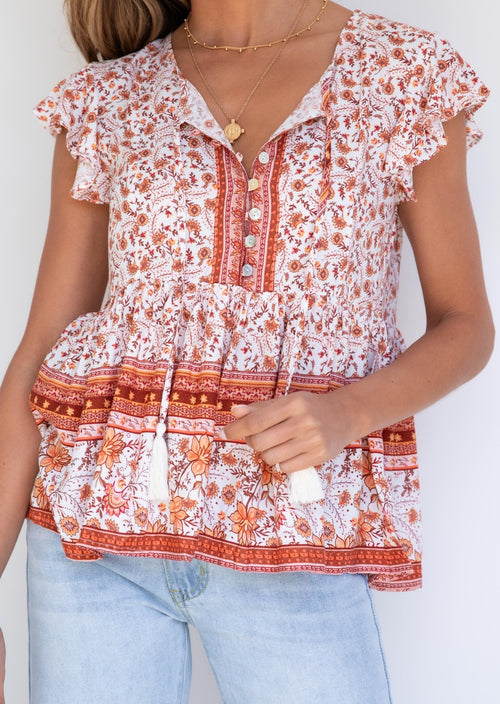 Kalua Top - Autumn Paisley