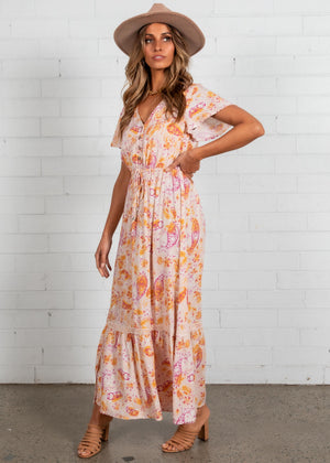 Aveline Maxi Dress - Blush Paisley