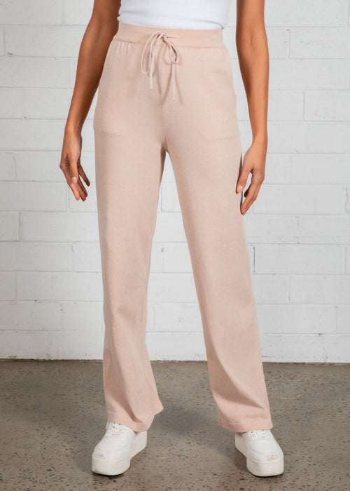 Zedd Wide Leg Pants - Oatmeal